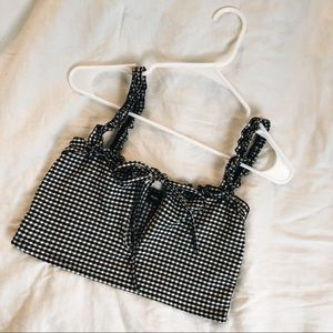 Pretty Little Thing Tie Front Crop Top